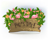 Pigs day — Stock Vector