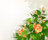 Background with yellow roses — Vector de stock