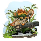 Green patrol — Stock Vector