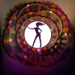Dancing girl silhouette — Stock Vector