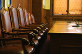 Chairs in conference room — Stock Photo