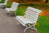 Bench at park — Stock Photo