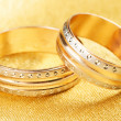 Stock Photo: Wedding rings