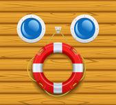 Ship's lifering. — Stok Vektör