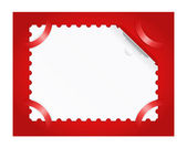 Postage stamp is on a red background. — Stock Vector