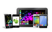 Mobile phones, tablet PC and player. — Stock Photo