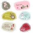 Stok Vektör: Cute frames or banners for kids
