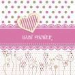 Vector de stock : Lovely baby shower