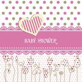 Lovely baby shower — Stock Vector