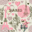 图库矢量图片: Paris seamless pattern