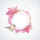 Summer floral frame — Stock Vector