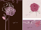 Roses card collection — Stock Vector