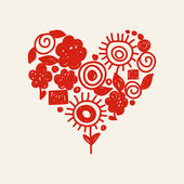 Doodle hart — Stockvector
