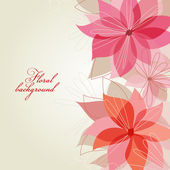 Romantic floral background — Stock Vector