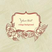 Ročník růže rám — Stock vektor