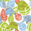 Colorful jungle seamless pattern with elephants - Vettoriali Stock
