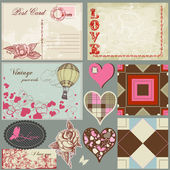 Vintage love set — Stock Vector