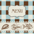 Sea food menu - Stock Vector