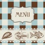 Sea food menu — Stock Vector