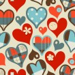 Hearts seamless pattern — Stock Vector #8414481