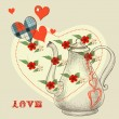 The secret love potion - Image vectorielle