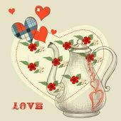 Hemliga kärleksdryck — Stockvektor