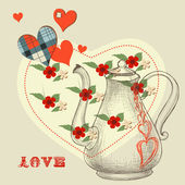 The secret love potion — Stock Vector