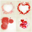 Romantic greeting cards set — Stock vektor