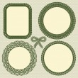 Royalty-Free Stock Imagen vectorial: Retro lace frames set