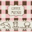 Royalty-Free Stock Vector Image: Coffee and cakes menu