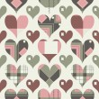 Retro hearts seamless pattern — Stock Vector #8527910