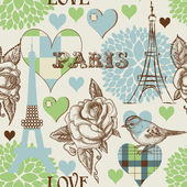 Paris seamless pattern — Stock Vector