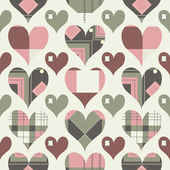 Retro hearts seamless pattern — Stock Vector