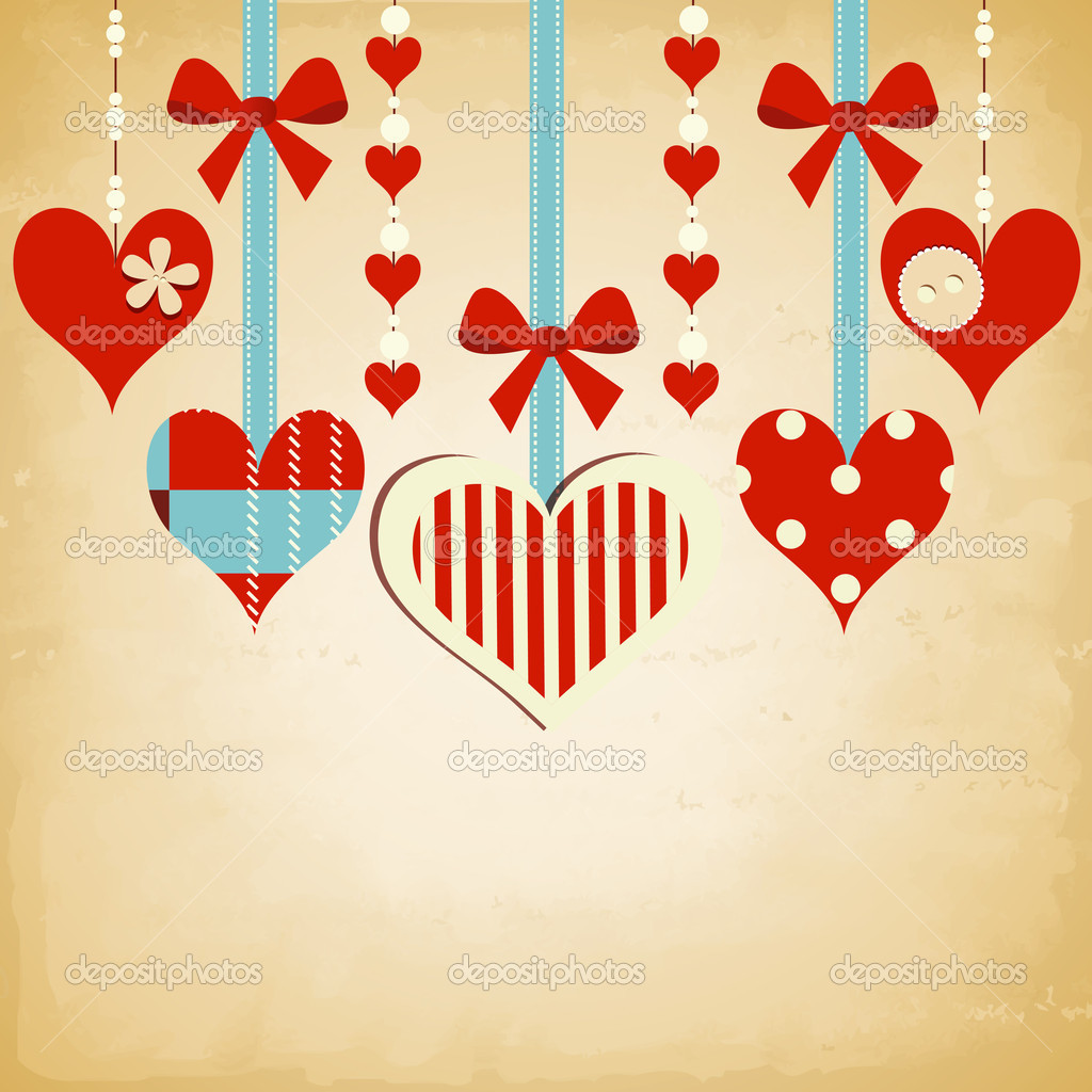 Valentine day background with cute hearts stock vector danussa 8529077 - Cute valentines backgrounds ...