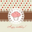 Birthday cupcake - Stock Vector