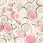 Calligraphic romantic seamless pattern — Stock Vector #8762469
