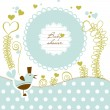 Cute baby shower — Stock Vector #8879734