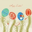 Easter eggs vector background - Stock Vector