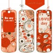 Love tags vector set - Stock Vector