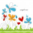 Vector de stock : Spring floral colorful background