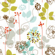 Spring plants seamless pattern - Stock Vector