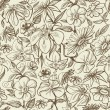 Royalty-Free Stock Vector Image: Graphic floral seamless pattern, vintage style texture