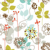 Spring plants seamless pattern — Stock Vector