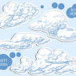 Clouds vector set — Stock Vector #9112116