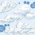 Clouds vector set — Stock Vector #9112116