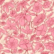 Vector de stock : Retro floral seamless pattern