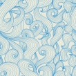 Royalty-Free Stock Imagem Vetorial: Blue waves pattern