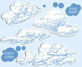 Clouds vector set — Stock Vector