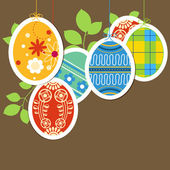 Easter painted eggs background — Stock Vector
