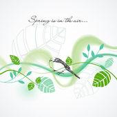 Fresh spring vector background — Stock Vector